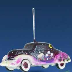 Ёлочная игрушка Автомобиль розовый