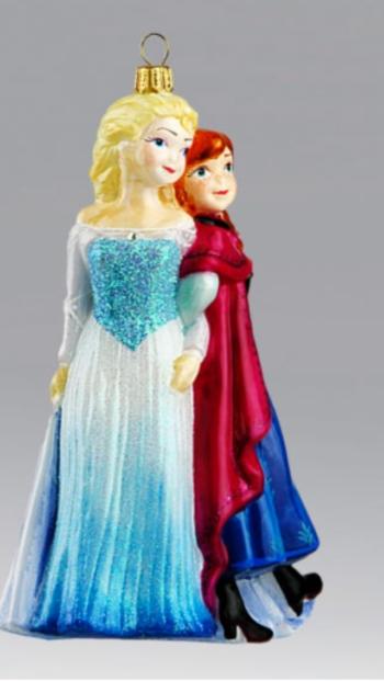 Анна и Эльза магазин елочных игрушек komozja