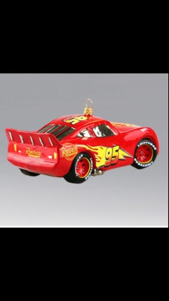 Ёлочная игрушка Автомобиль Молния, Дисней