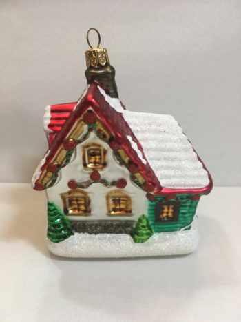 Ёлочная игрушка Домик Деда Мороза