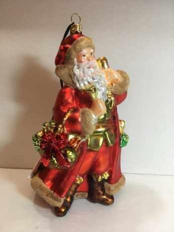 Ёлочная игрушка Санта с колокольчиком