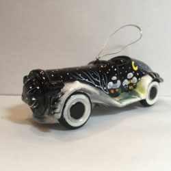 Ёлочная игрушка Автомобиль черный с аэрографией