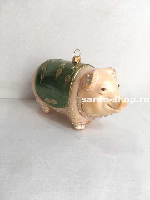 Ёлочная игрушка Свинка-кубышка