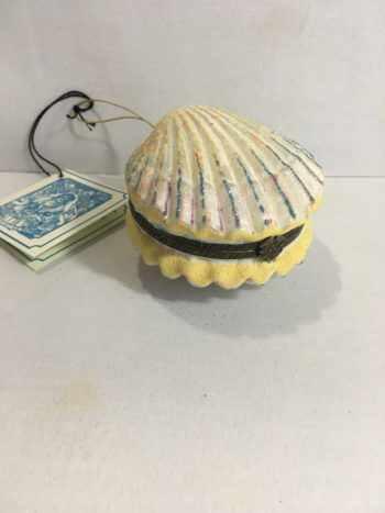 Ёлочная игрушка Шкатулка Раковина с жемчужиной