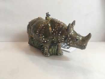 Ёлочная игрушка Носорог ювелирный